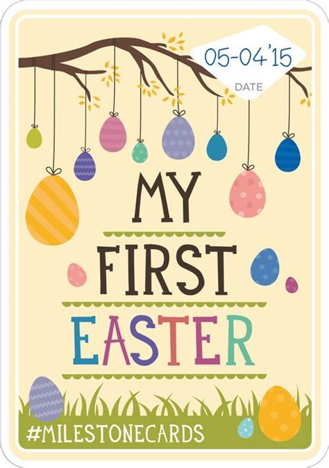 printable baby milestone cards easter card available for free in 9 languages http www