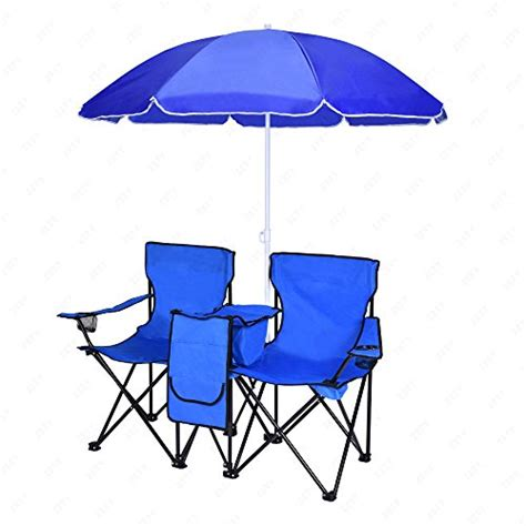 Folding Chairs With Umbrella by 2 Folding Chair C Chair With Removable Umbrella Table