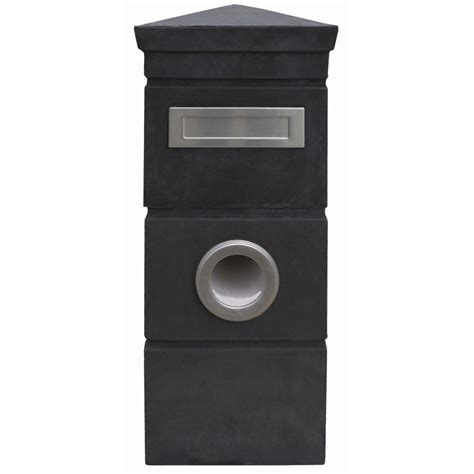 Of Letter Box Elite Letterboxes Kingston Charcoal Pillar Letterbox Bunnings Warehouse