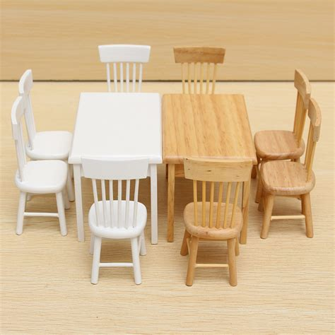 1 12 dollhouse miniature furniture wooden dining room