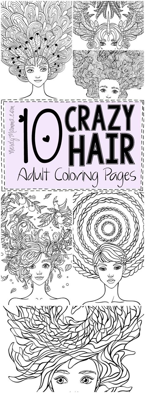 crazy hair adult coloring pages coloring pages adult