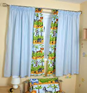Jungle Curtains For Nursery Safari Curtains Blue Baby Nursery Window Treatments Baby
