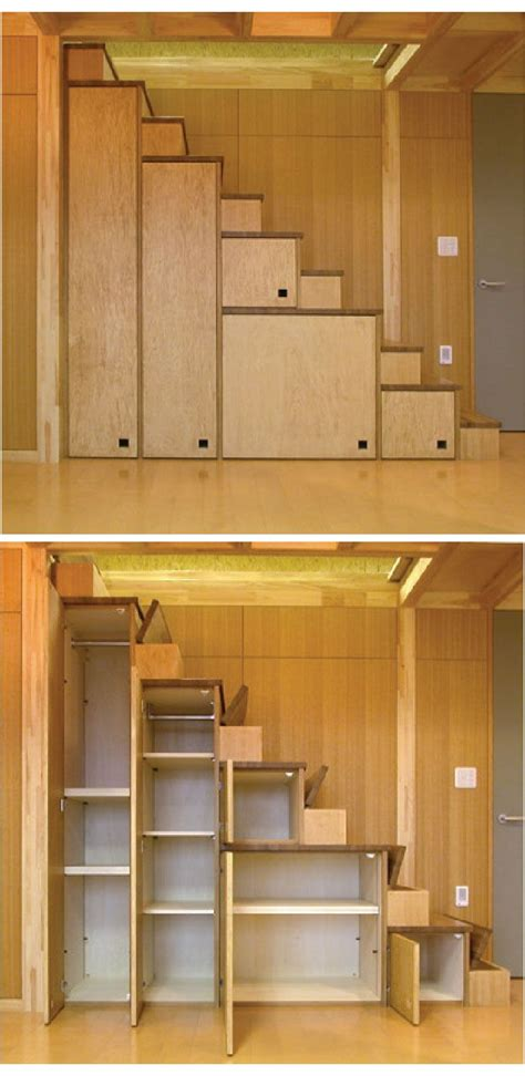 stair storage creative use of space laren leland