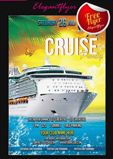 Free Cruise Ship Flyer Template 16 Cruise Flyers Free Psd Ai Eps Format Download Free Premium Templates