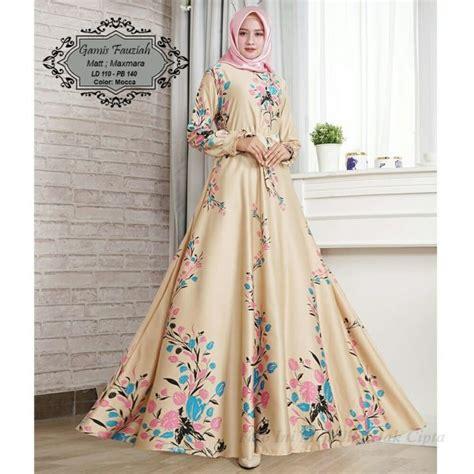 Gamis Dress Maxmara Motif Zeea maxi fauziah maxmara motif bunga gamis modern butik jingga