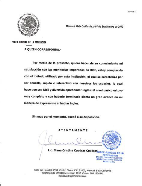 carta poder judicial ejemplo cartas testimoniales