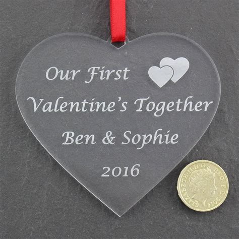 valentines together personalised valentine s together bauble nicely