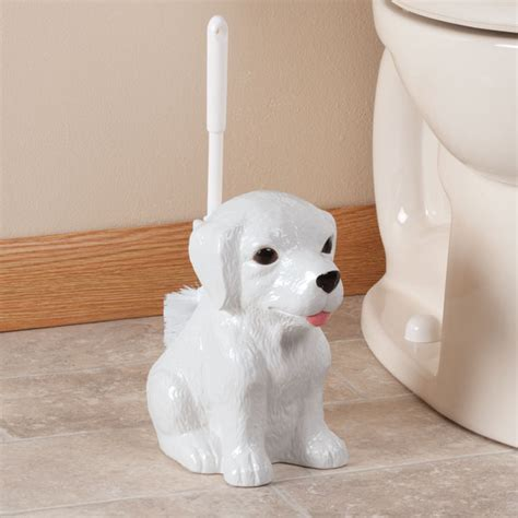 puppy holder toilet brush holder by oakridge toilet bowl brush walter