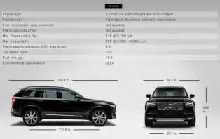 Volvo Xc90 Measurements 2015 Xc90 Specifications Volvo Xc90