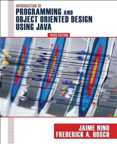 object oriented design tutorial java wiley introduction to programming and object oriented