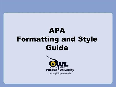 Apa Formatting And Style Guide Powerpoint | ppt apa formatting and style guide powerpoint