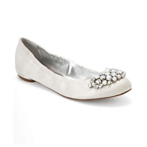 nine west shoes flats nine west faycie evening flats in white lyst