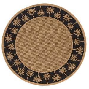8 Round Outdoor Rugs by 8 Round Tropical Coastal Black Island Palm Indoor Outdoor