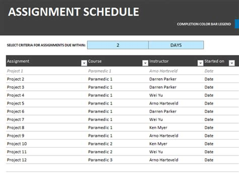 department schedule template chore schedule office templates