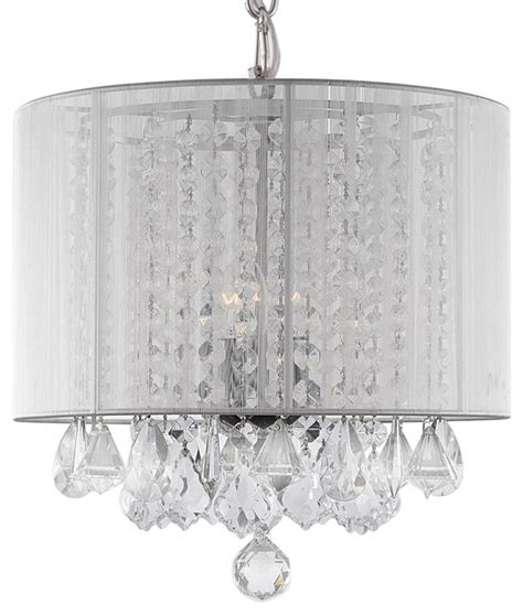 White Drum Pendant Chandelier Chandelier With White Drum Shade Chandeliers By Gallery