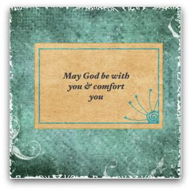 Biblical Comfort For The Grieving Christian Sympathy Cards