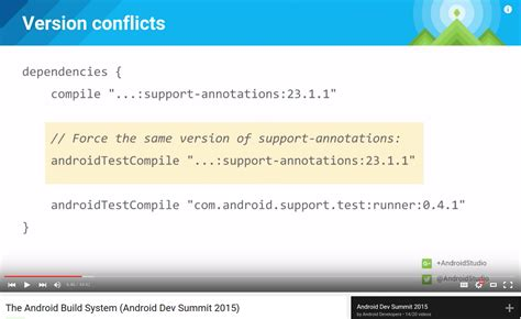 android support annotations testing warning conflict with dependency android support support annotations stack