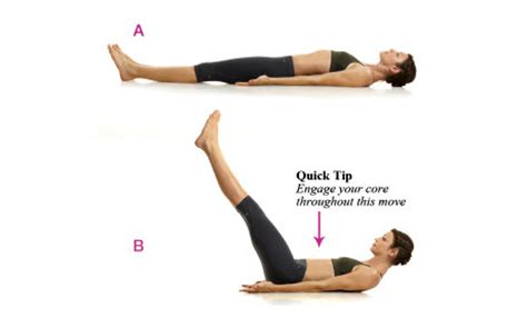 leg raises demonstration fitness health