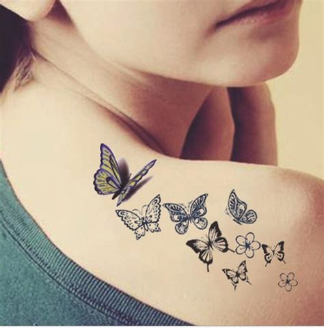 tattoo transfer process butterfly tattoo ladies back fresh water transfer female