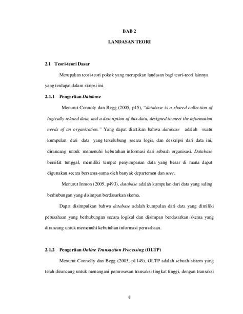 landasan teori database landasan teori database