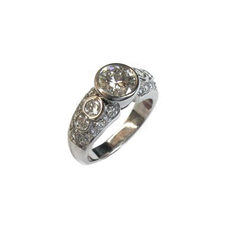 Bezel Set Engagement Rings by Bezel Set Engagement Ring