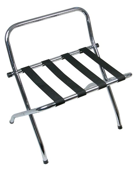 chrome metal luggage rack