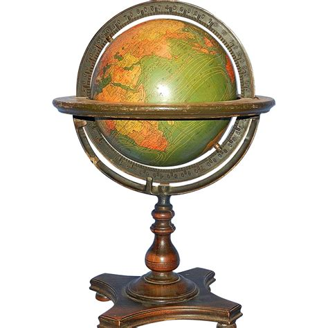 Globe Table L Vintage Kittinger Company 8 Inch Terrestrial Table Globe Buffalo New My Grandmother Had One