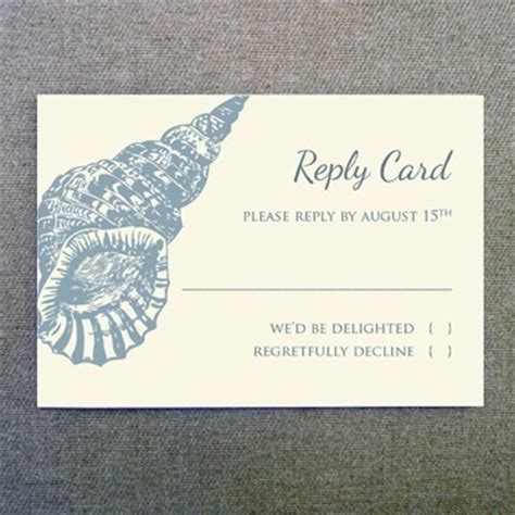 rsvp template seashell design download print