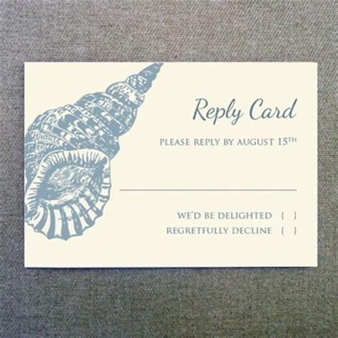 rsvp cards templates free rsvp template seashell design print