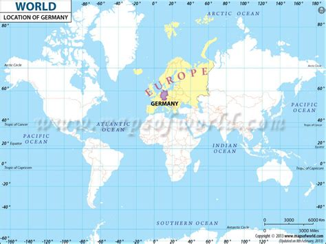 map of the world germany where is germany location of germany