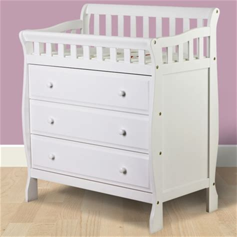 White Dresser And Changing Table by On Me Changing Table And Dresser In White