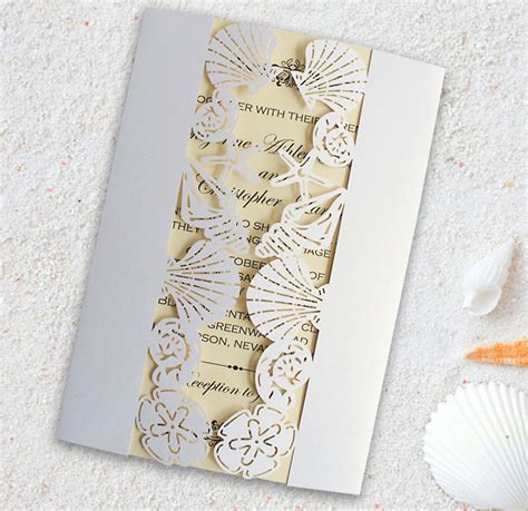 Wedding Invitation Cards Aliexpress by Seashells Wedding Invitations Promotion Shop For