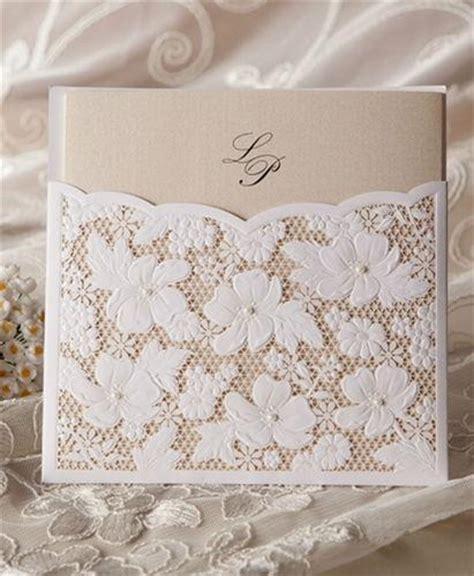 cheap flower lace pocket card wedding invitation 1364138 weddbook