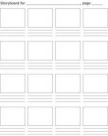Storyboarding Template by Storyboard Template La Stop Motion