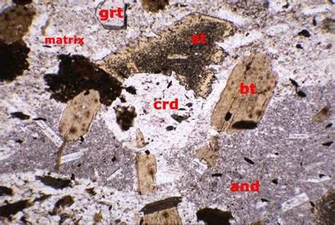 cordierite thin section dan s internet plaice geology