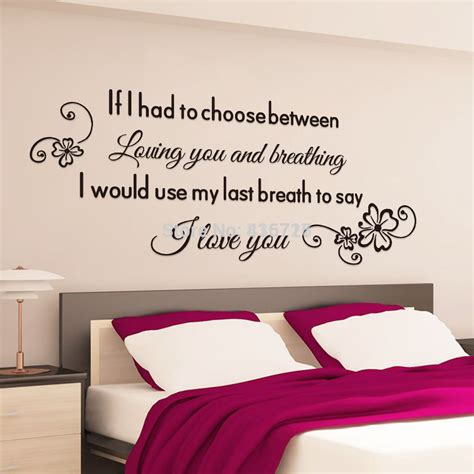 Bedroom Poster Quotes Aliexpress Buy Proverbs Wall