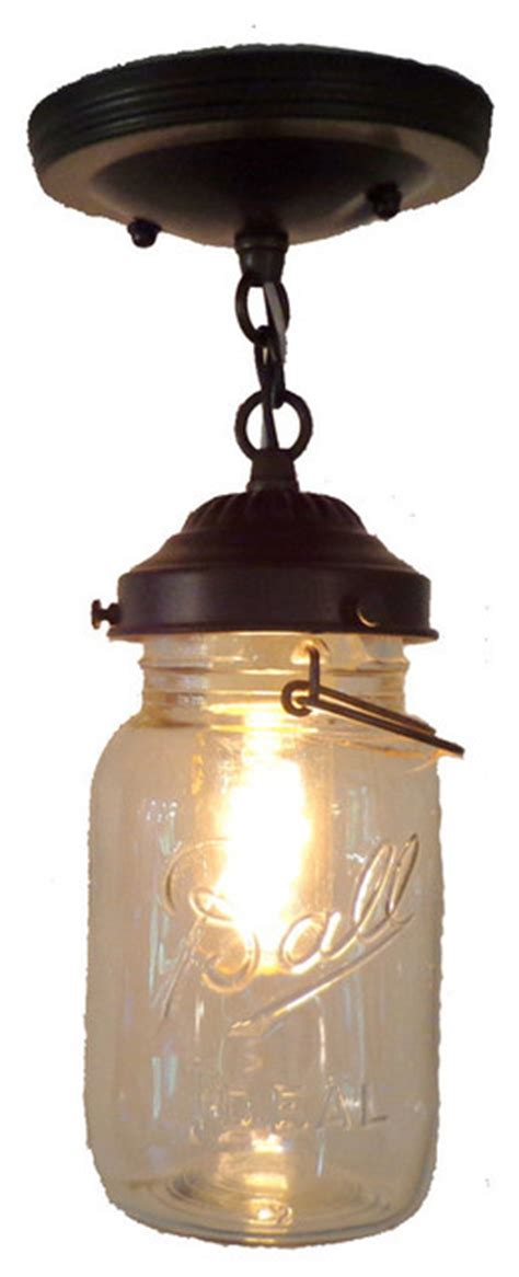 jar flush mount light the l goods jar ceiling light with chain and