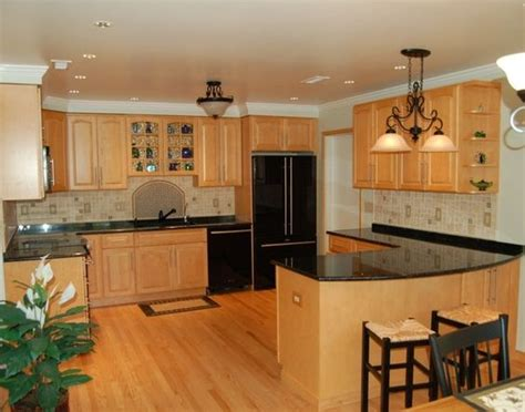 kitchen backsplash oak cabinets  wall shelving  pinterest