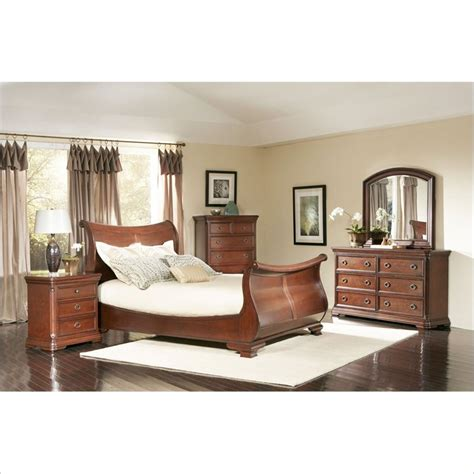 Largo Furniture Marseille 5 Piece Bedroom Set In Cherry Largo Bedroom Furniture