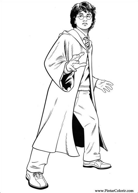 coloring pages harry potter and the goblet of fire drawings to paint colour harry potter print design 048