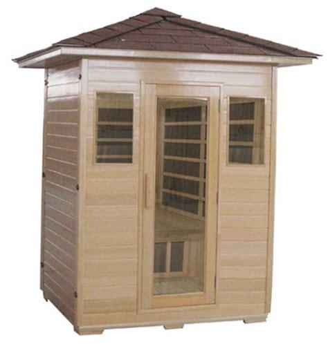 3 person outdoor carbon infrared sauna