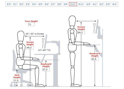 typical seating height desk height for someone 5ft 10 inches tall vitaleurope
