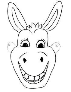 horse mask printable coloring page  kids kids crafts