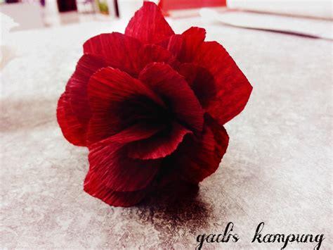 hasil tangan gadis kampung tutorial  membuat bunga
