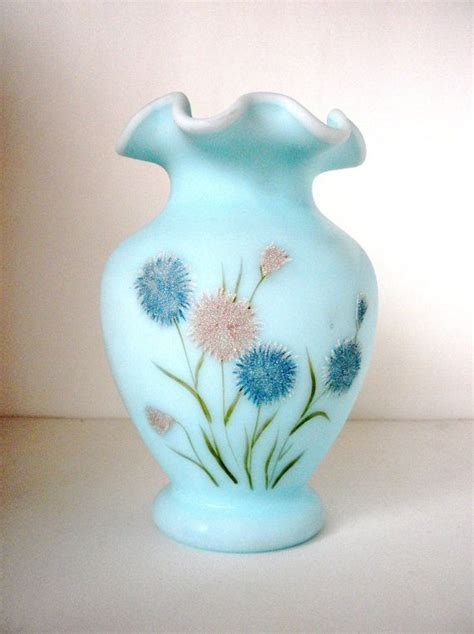 64 best images about vases fenton painted on