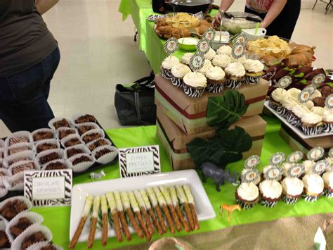 theme buffet names jungle themed dessert bar tsc cupcakes pinterest