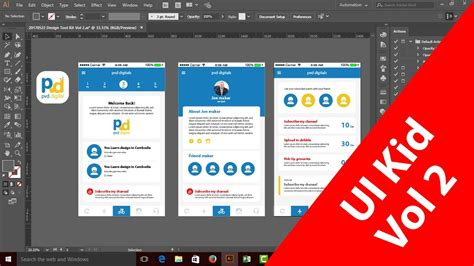 app design tutorial illustrator app screen showcase mockup with adobe illustrator ai vol 2