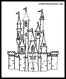 disney castle free printable disney coloring pages