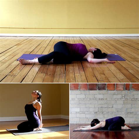 yoga poses before bed yoga poses for better sleep popsugar fitness