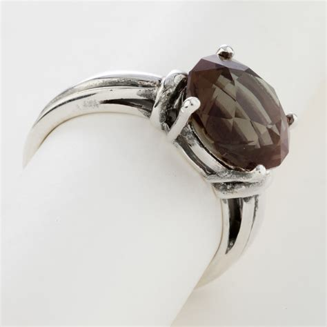 A0007 Yellow Sphene Ring In Sterling Silver 5ct green brown sunstone sterling silver ring